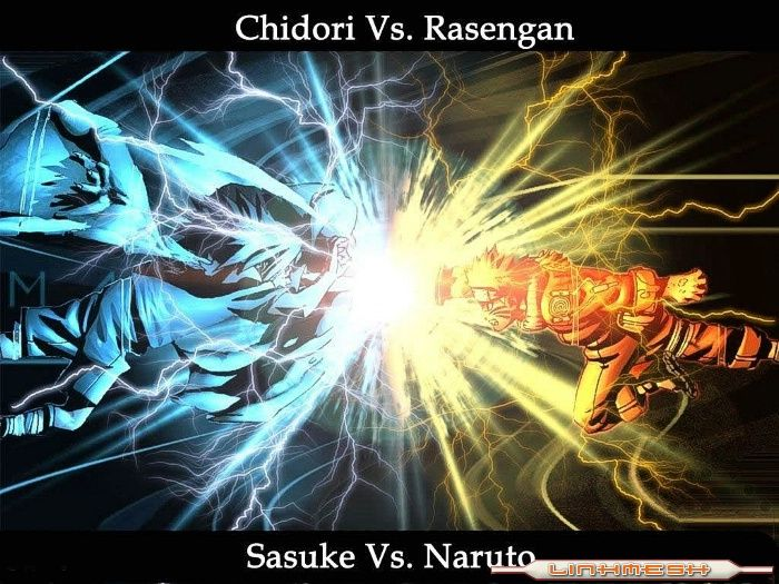 NARUTO VS SASUKE, CHIDORI VS RASENGAN,FROM GOOGLE IMAGES